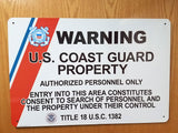 Coast Guard Security Signs