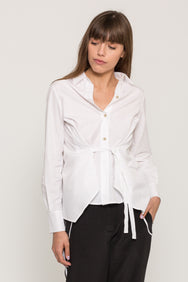 SIDE TIE BUTTON UP