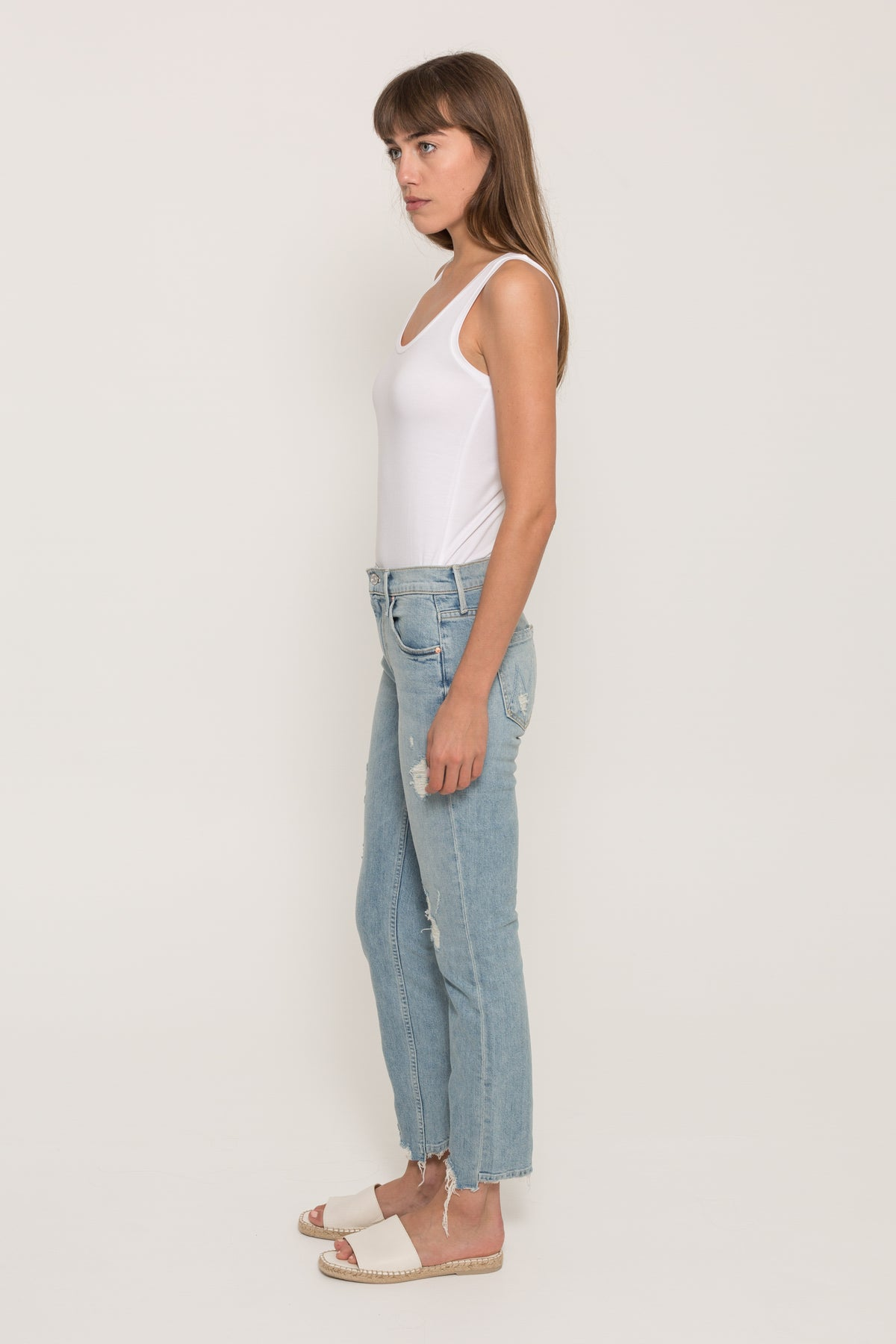 MOTHERFLIRT ANKLE FRAY JEANS23269