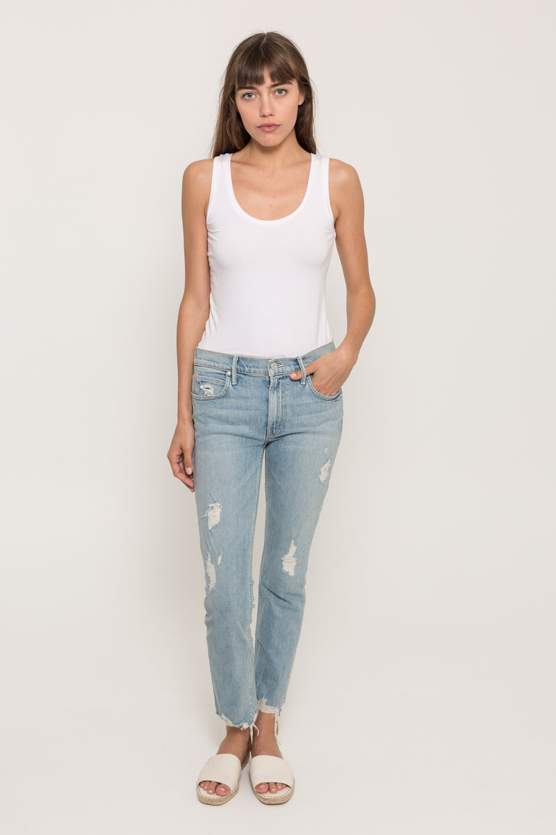MOTHERFLIRT ANKLE FRAY JEANS23268