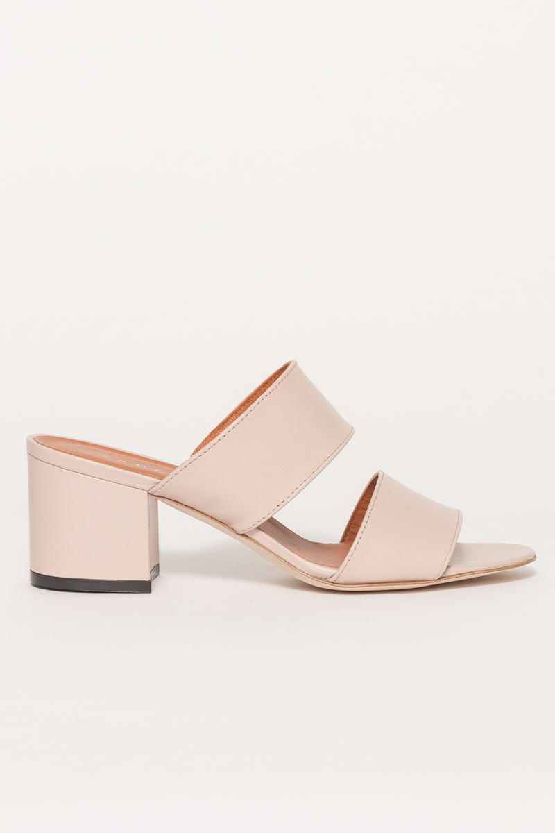 LEATHER DOUBLE STRAP SANDAL