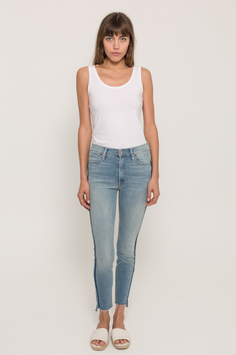 MOTHERSTUNNER ZIP ANKLE FRAY JEANS17004