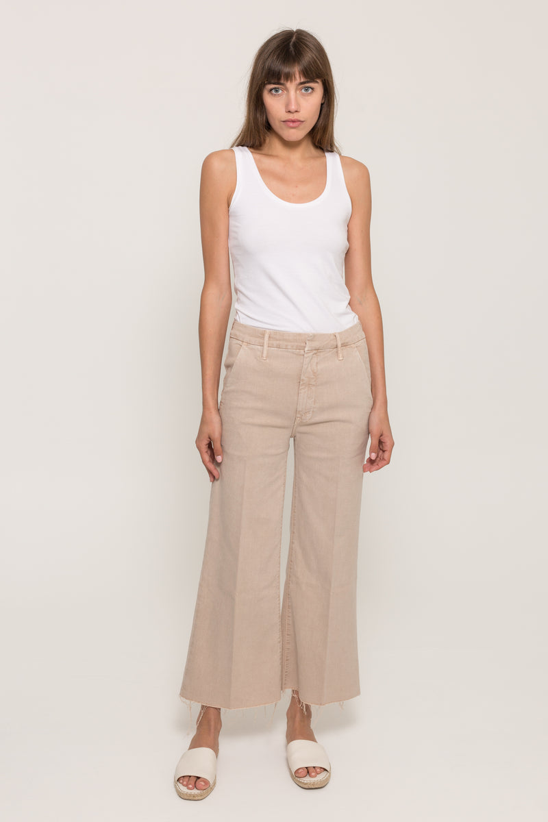 MOTHERROLLER CROP PREP FRAY PANT23234