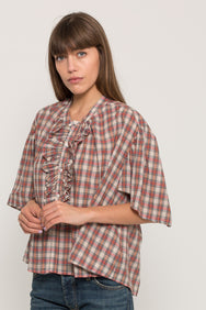 RITA PLAID TOP