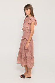 SeaCECILE SLEEVELESS SMOCKED MAXI DRESS9520