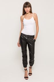 FRENCH MILITARY LEATHER PANT