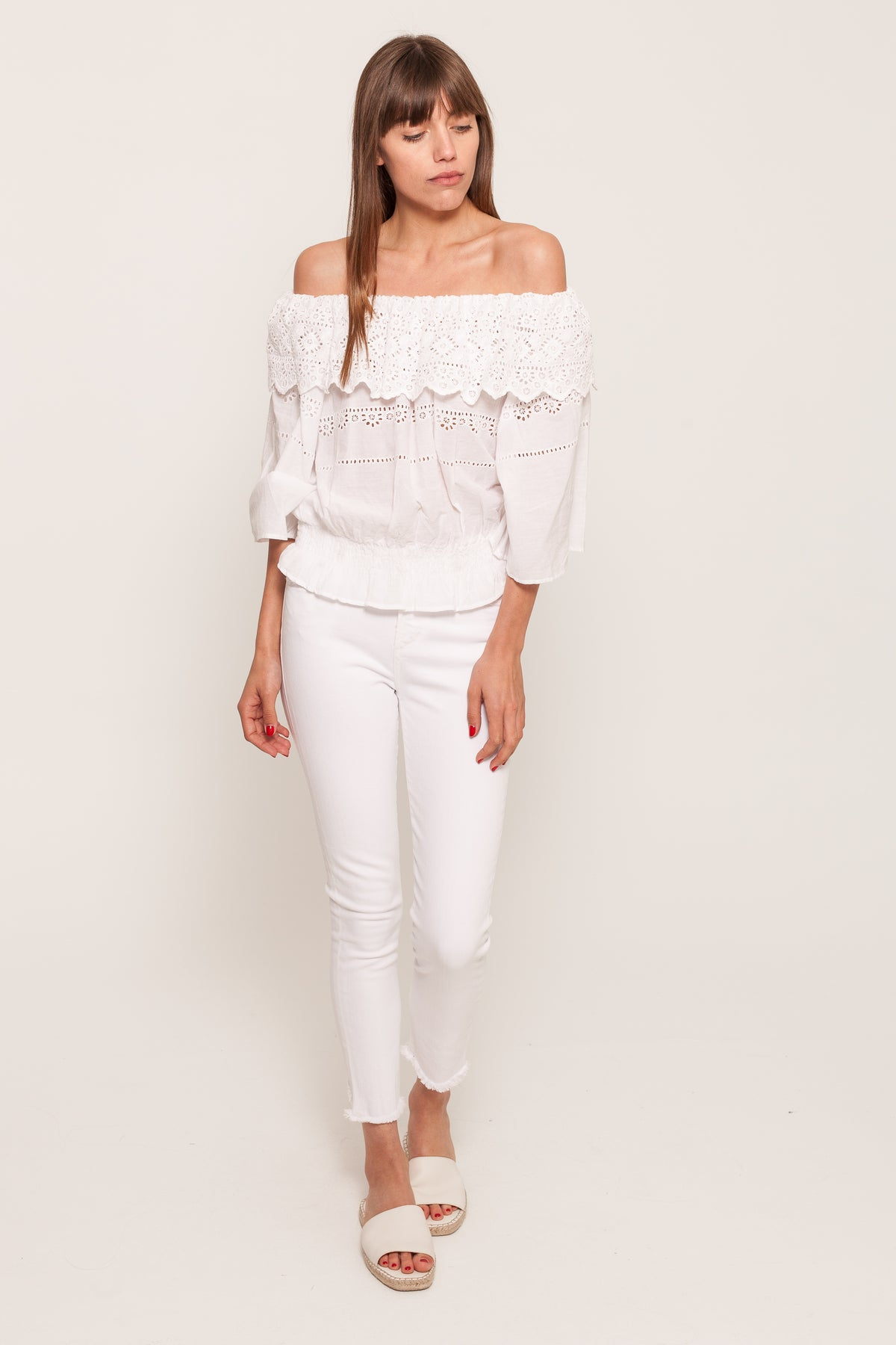 NE QUITTEZ PASRUFFLE LACE TOP22464