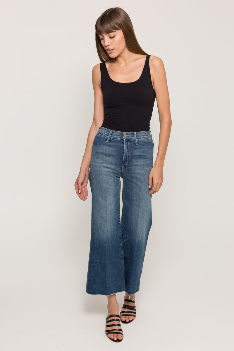 MOTHERSWOONER ROLL CROP FRAY JEANS15965
