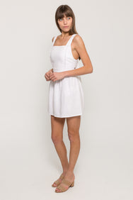 SIRINES TIE BACK MINI DRESS24137
