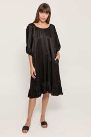 PEASANT RUFFLE DRESS