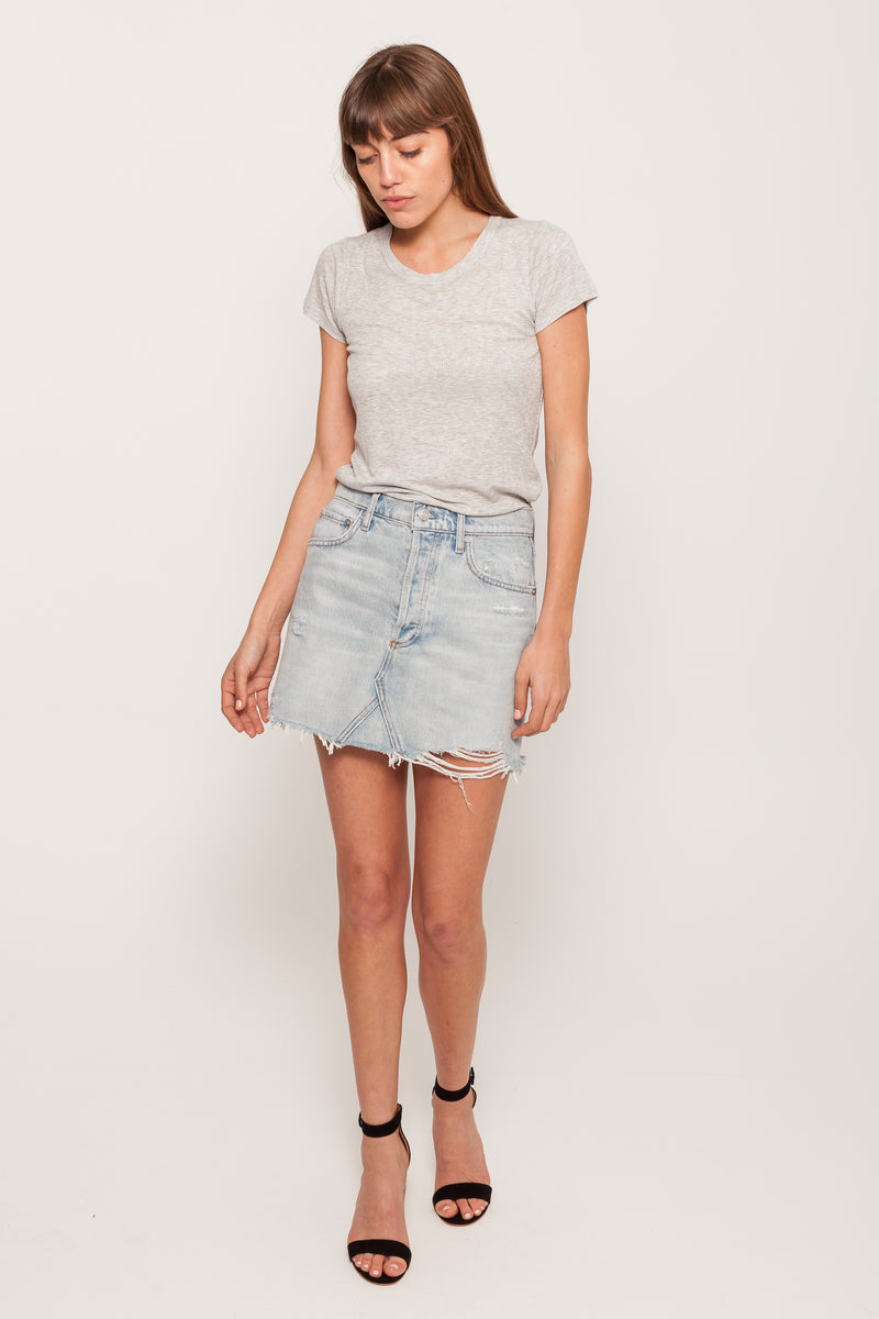 AGOLDEQUINN VEGA DENIM SKIRT8765