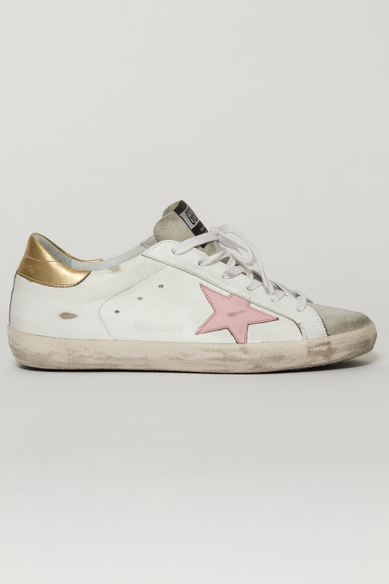 GOLDEN GOOSEGOLD HEEL SUPERSTAR SNEAKERS15514