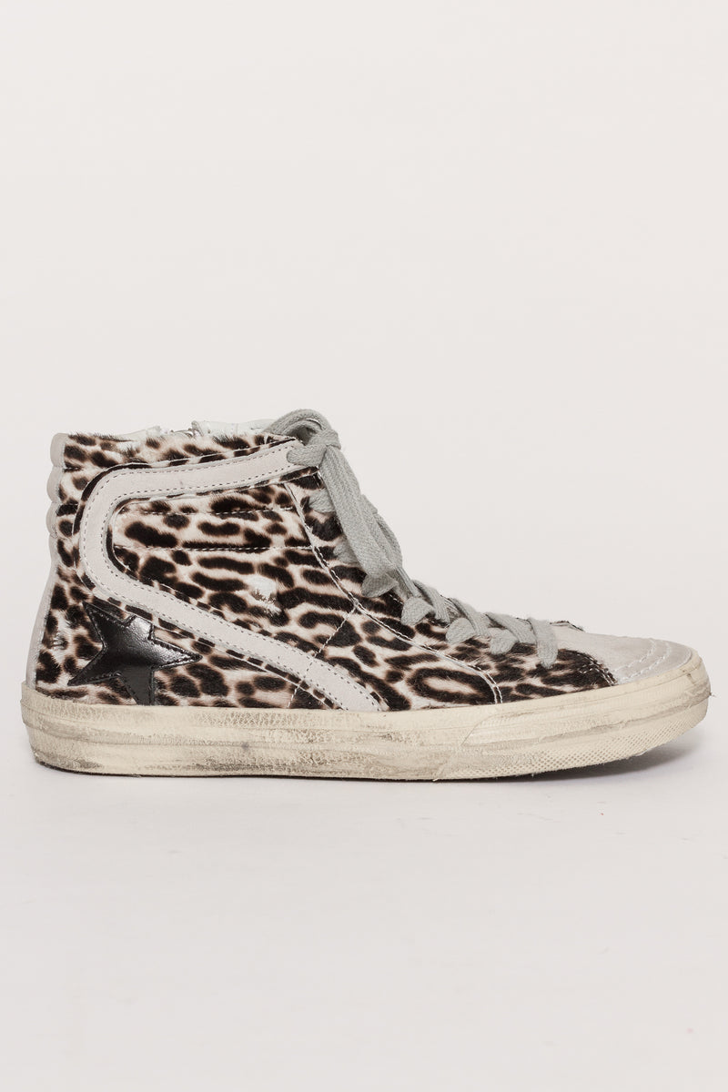 LEOPARD SLIDE SNEAKERS