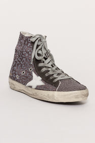 FRANCY LEOPARD PRINT TRAINERS
