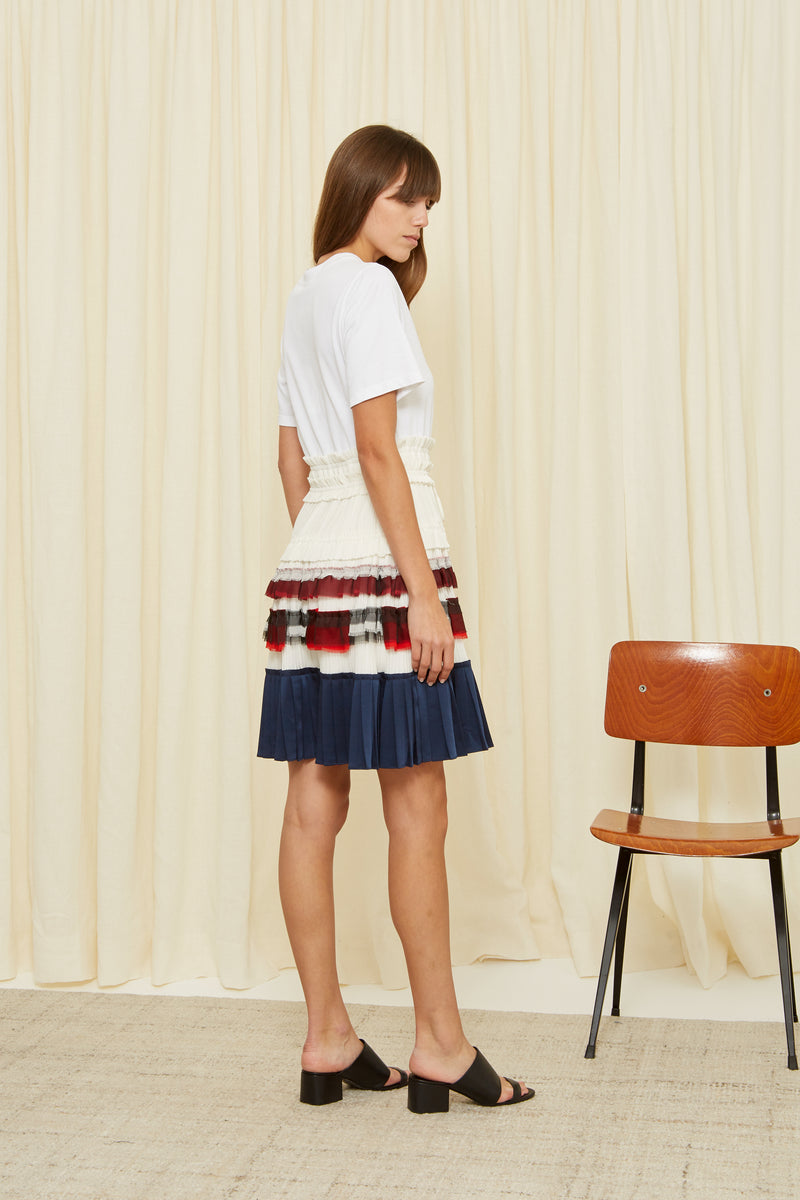 PLEATED SKIRT DRESS