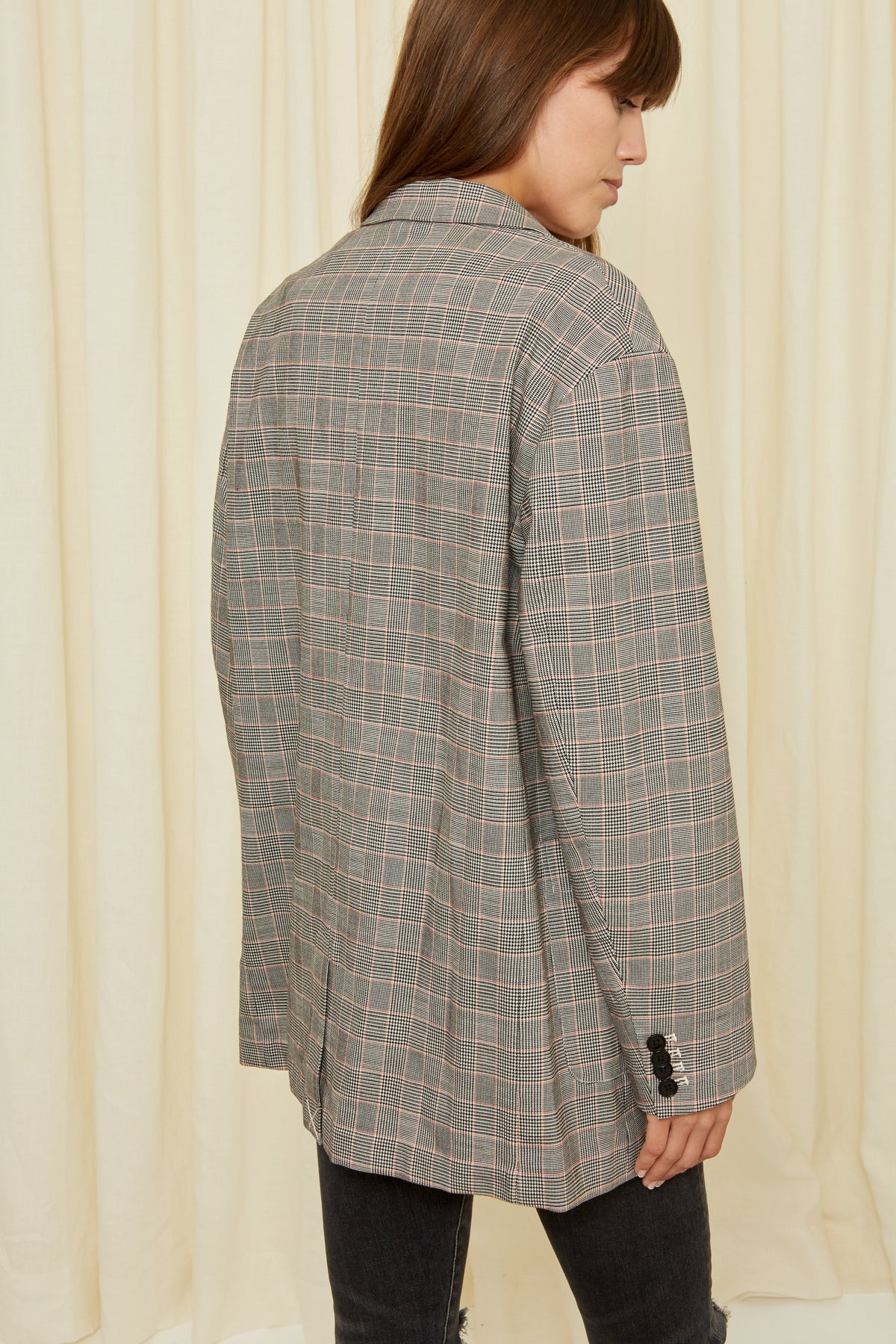 OVERSIZED CHECK BLAZER