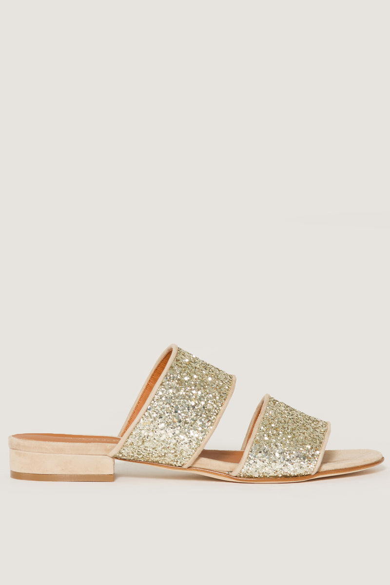 MADISON ET CIECLAIRE DOUBLE STRAP GLITTER SANDALS26530