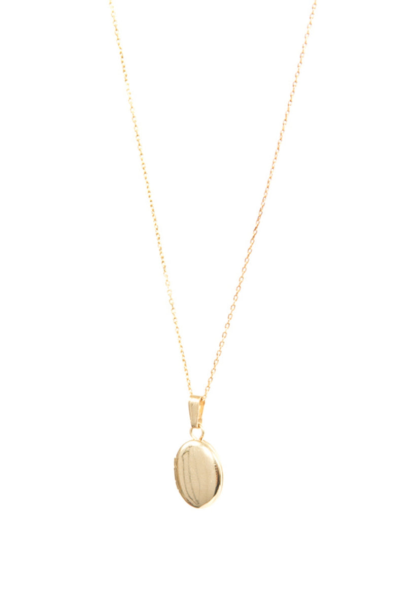 SASHA SAMUELMini Oval Locket Necklace5955