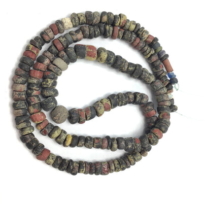 24 Inch Strand Rare Mix Ancient Glass Nila Beads, Mali - Rita Okrent Collection (AT0663b)