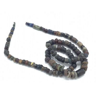 Antique and Ancient Red, Black, Gray and Brown Stone Beads, West Africa - Rita Okrent Collection (S579))