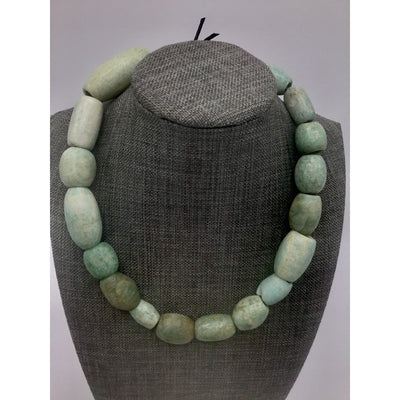 Strand of Ancient Amazonite Beads from Mauritania with Lovely Markings - Rita Okrent Collection (S567)