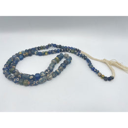 100 Bead Long Strand of Mixed Early Islamic Glass Eye Beads - Rita Okrent Collection (AG229)