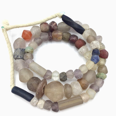 Mixed Antique Faceted European Glass Beads - Rita Okrent Collection (ANT307v)