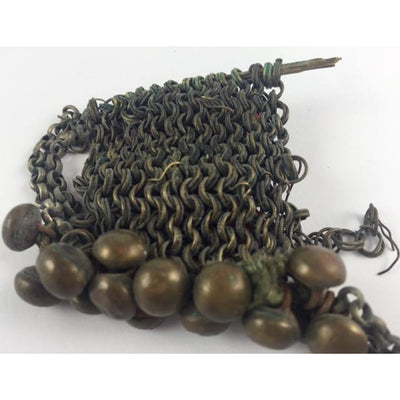 Algerian Chain Mail Amulet with Decorative Beads, 1930s - P511