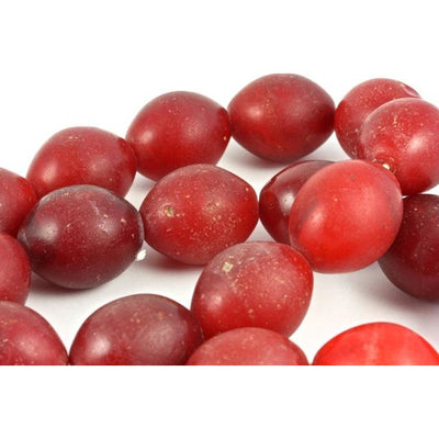 Red Large Pigeon Egg Beads, Ethiopia