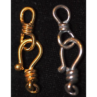Custom Order Rita Okrent Collection Rita Hook-and-Eye Clasps in Sterling Silver and Gold-Over-Sterling in 18mm, 22mm and 26mm Sizes