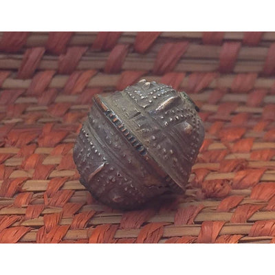 Mauritanian Antique Silver and Copper Round Rare Aggrab al Fadda Beads, Small - ANT258