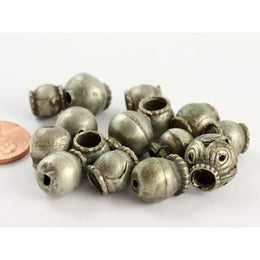 15 Mixed Old Metal and Coin silver beads, Afghanistan and Middle East - ANT334