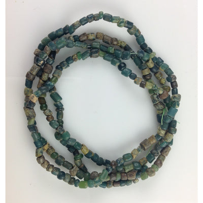 Lovely Small Mixed Green Nila Beads from Mali - Rita Okrent Collection (AT0668)