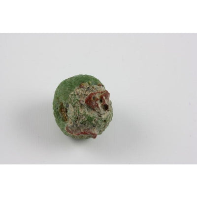Green Ancient Glass Bead, with Red and Black Decoration, Egypt