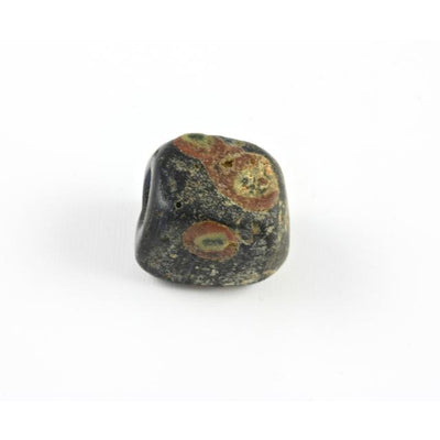 Black Cube-Shaped Ancient Glass Bead, Egypt