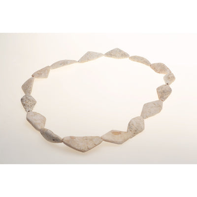 Diamond White Shell Beads Strand, Mali or Mauritania - Rita Okrent Collection (C691)