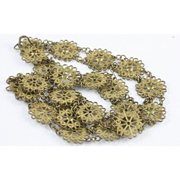 Brass Filigree Necklace, Antique, Egypt