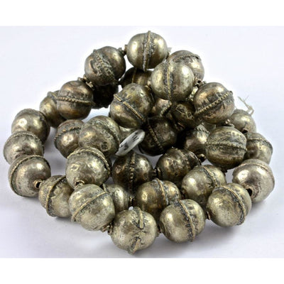 Hand-Made Silver Beads, Antique, Ethiopia