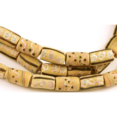 Venetian Pale Yellow Glass beads, African Trade