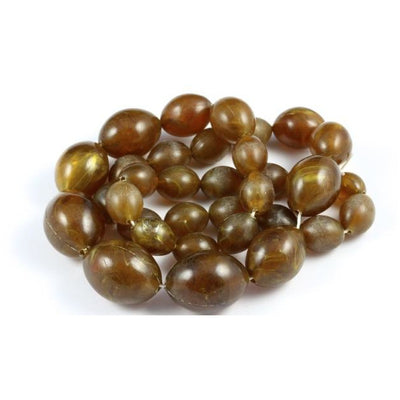 Light Brown Vintage Horn Beads, Bohemia - ANT271