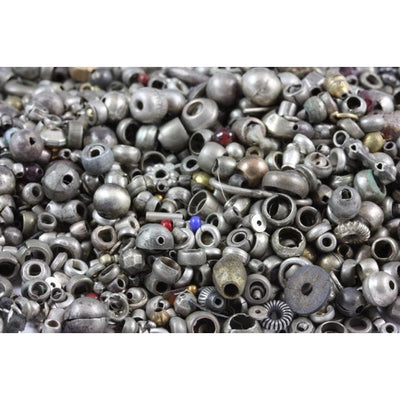 Group of Vintage Silver Spacers and other Mixed beads, Egypt