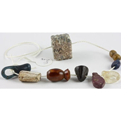 Spectacular Strand of Ancient Beads and Pendants