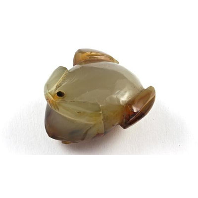 Antique Carved Jade Frog Pendant, China