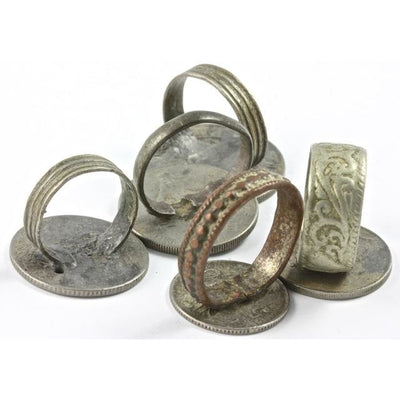 Back, Old Coin Rings, Set of 5, Morocco