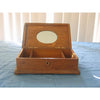 Large antique wooden box with mirror