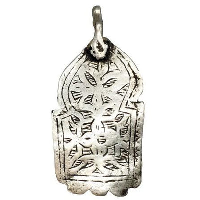 Berber Silver Louha Talisman Amulet, Morocco - Rita Okrent Collection (NP040)