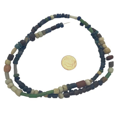 Mixed Size and Color MultiColor Ancient Excavated and Antique Glass Nila Beads, Mali  - Rita Okrent Collection (AT0664)