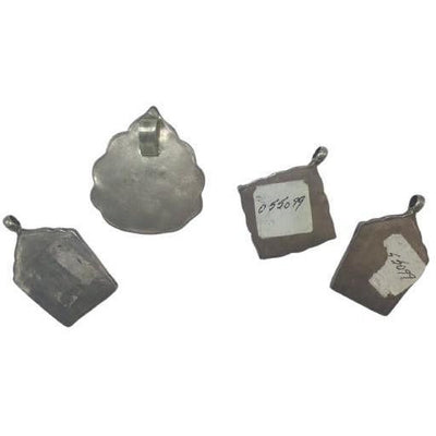 Group of 4 Silver Pendants with Islamic Inscriptions and Decoration - Rita Okrent Collection (P782)