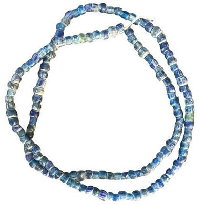 Translucent Gorgeous Ancient Glass Nila Beads - Dark Blue, Mali - AT0623