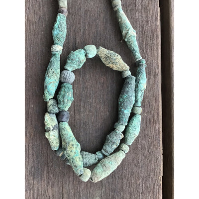 Bronze Bead Necklace with Lots of Patina, Dogon People, Mali - Rita Okrent Collection (C174g)